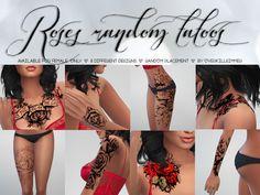 Sims 4 Pics & News — overkillsimmer: Roses Random Tattoos Available...