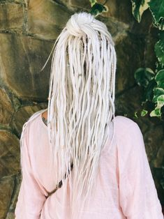 Blonde Dreadlocks, Wool Dreads, Dreads Girl, Synthetic Dreadlocks, Crochet Dreadlocks, Dreadlock Extensions, Braids With Extensions, White Girl Braids, White Dreads
