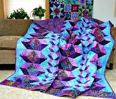 Margaret Kennedy created this BEAUTIFUL quilt using her @AccuQuilt dies! Better Cuts make Better Quilts!