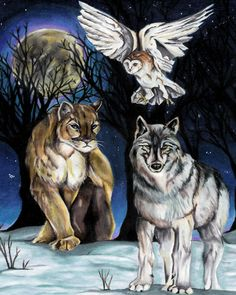 "Spirit Totem Animals: ""Totem,"" by wyrdgrendel, at deviantART."