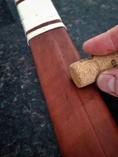 Leatherworking tip- Trying to wet form leather and don't have a bone creaser? Grab a cork! It's firm enough to mould the leather but soft enough to conform to the form underneath. It'll even burnish as the leather dries!