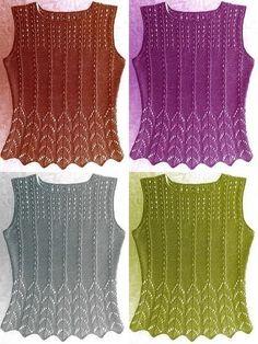 Lace Knitting, Knitting Patterns, Crochet Top, Sewing, Womens Fashion, Sweaters, Cotton, Shirts, Inspiration
