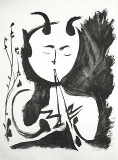Faun Musician no. 4   Pablo Picasso, Faun Musician no. 4 (1948)