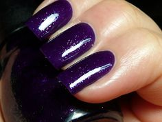 Daddy's Girl: a deep purple with a drizzle of shimmer and glitter