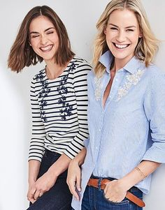 Shop our sale range of simple tees, relaxed polos and stylishly pleated tops that are soft to the touch and cut to flatter. Breton Top, Tees, Blouse, Shopping, Women, Fashion, Moda, T Shirts, Fashion Styles