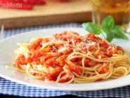 Espaguetis a la amatriciana en Thermomix