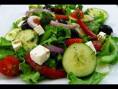 Receta fácil Ensalada Griega, riquísima y saludable, tutorial de cocina. - Sus RecetasSus Recetas