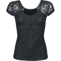Gothicana by EMP - Lace Shirt - Maglia donna emp-online neri Poliestere