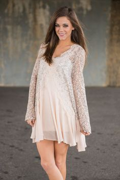 """Queen Of Posh Tunic, Cream"" 