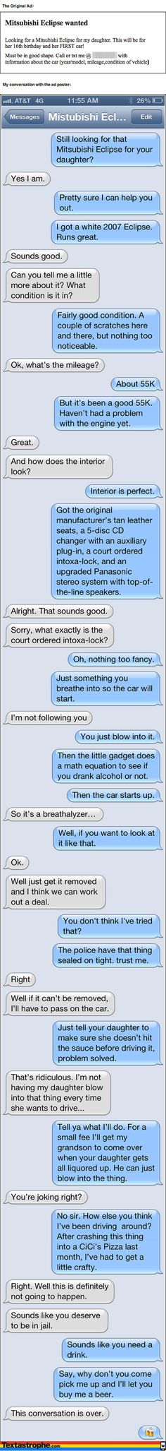 » The 9 Most Epic Texting Pranks Of All Time. The 3rd One Killed Me…LOL!