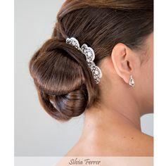 Bride comb, backcomb , moño de novia, recogido de novia, adorno para el pelo de novia, Pronovias.