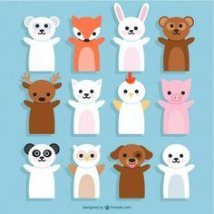 Dibujos de marionetas de animales