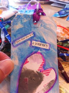 Mixed media tag for a he #taggedbykindness project.