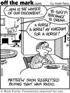 Ham(let) radio - humour fits ;-)