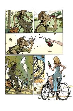 """idontwannabesued:  fuckyeahcomicsbaby:  """"The Ride"""" by Rodolphe Guenoden  HOLD THE FUCK UP"""