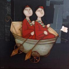 Galerie d'art à Granville Vintage Boats, Nautical Art, Art Moderne, Collage, French Artists, Woman Painting, Female Portrait, Figurative Art, Illustrations Posters
