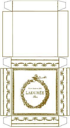 Boîte macarons Ladurée - à imprimer sur bristol de couleur (rose, vert, bleu ...)
