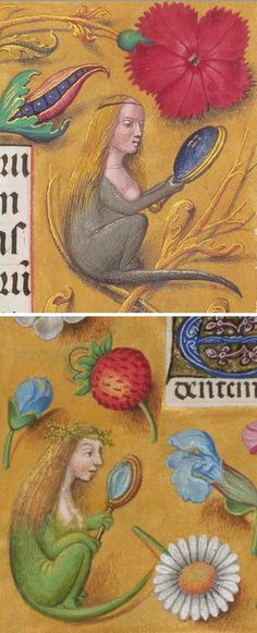 Medieval Micemaidens: 1510-20, J. Paul Getty Museum (top). About 1497, British Library (bottom):