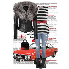 JITROIS Black Leather Jacket by lindsayd78 on Polyvore featuring Oasis, Jitrois, Topshop, SoftWalk, Lulu Guinness and Alex Vidal