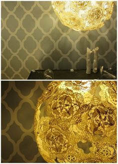 crazy cool doily lamp DIY from Handmadeology!