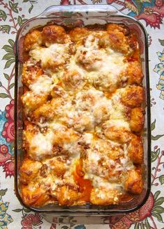 Recipe for Bubble Up Lasagna - We loved, loved, loved this dish! I wanted to eat the whole thing! It was full of cheesy goodness. I really loved all the meat sauce!!