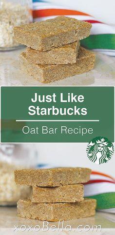 Just Like Starbucks Oat Bars Oats Recipes, Baking Recipes, Cookie Recipes, Dessert Recipes, Desserts, Amish Recipes, Yummy Treats, Sweet Treats, Bakken