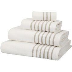 John Lewis Croft Collection Rice Weave Linen Border Towels