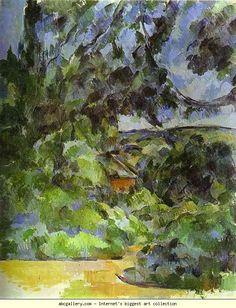 Paul Cézanne. Blue Landscape. Olga's Gallery.