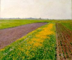 Plain of Gennevilliers - Gustave Caillebotte