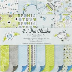 In The Clouds Paper Pad - 6 X 6 Inches | Card Making Supplies at The Works