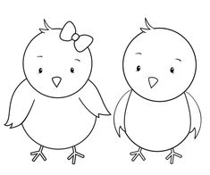 Easter Chick And Egg Template