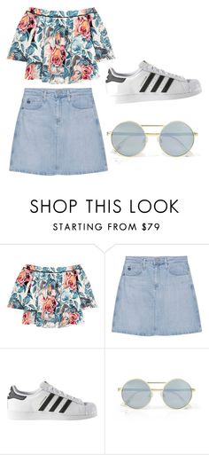 """""""Untitled #108"""" by kkarrrenn on Polyvore featuring Elizabeth and James, AG Adriano Goldschmied, adidas and Le Specs"""