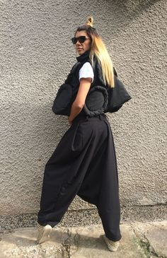 NEW Collection Loose Black Harem Pants / Extravagant by Silvisport