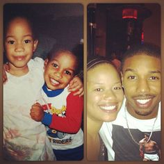 """Secret Celebrity Siblings - Hollywood Brothers Sisters - Michael B. & Jamila Jordan Michael B. Jordan's older sister Jamila is a producer, who is currently continuing work on """"Ink Master,"""" a Spike Network TV Show.  The two are extremely close; he recently shared this adorable snap with the caption. """"WIthout a care...my sister and I against the world!"""""""