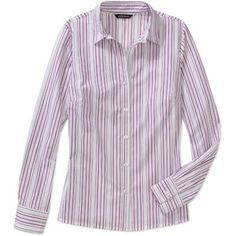 54ebf91668f George Women s Essential Long Sleeve Button-Down Career Shirt - comes in  lots of different