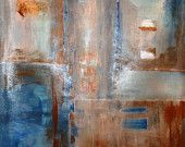 RUSTY BLUE, Large Art, Abstract Art, Abstract Painting, Acrylic Painting, Canvas Art, Geometric Art