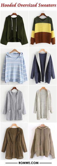 Hooded Oversized Sweaters from romwe.com