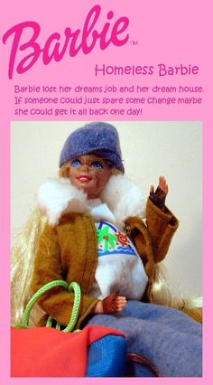For my art class in spring 2010 I made a ton of fake Barbies and created mock ups for the fake designs. Bad Barbie, Barbie Dolls, Parental Guidance, Losing Her, To My Daughter, Pin Up, Winter Hats, Crochet Hats, Retro