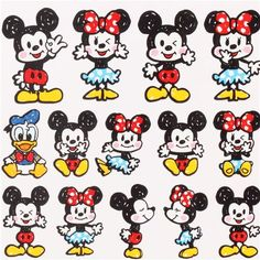cute Mickey Mouse stickers from Japan kawaii
