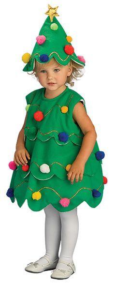 Little Christmas Tree Costume - Christmas Costumes--suitable for boys and girls Christmas Tree Halloween Costume, Christmas Tree Dress, How To Make Christmas Tree, Little Christmas Trees, Toddler Halloween Costumes, Toddler Christmas, Diy Costumes, Xmas Tree, Christmas Unicorn