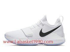 quality design 8274f aa2ba Nike PG 1 White Ice Chaussures de Prix Pas Cher Pour Homme Blanc Noir  878627 100
