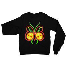 Rasta Butterfly Heavy Blend Crew Neck Sweatshirt
