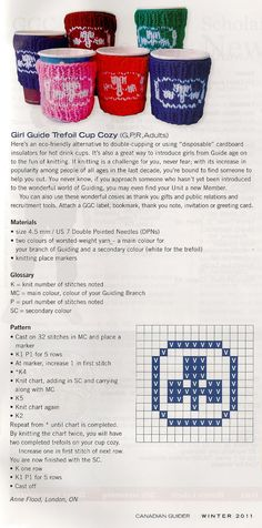 r-anne-dom: My Girl Guides of Canada Trefoil Cup Cozy pattern