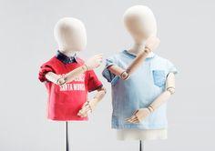 OLD MODERN KIDS - TORSOS #atelier #vintagemannequin #stickpuppet #limbs #kinsfashion