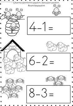 First Grade Worksheets, Kindergarten Math Worksheets, Math Literacy, First Grade Math, Preschool Learning, Preschool Activities, Kindergarten Reading Activities, Montessori Math, Simple Math
