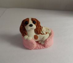 Cavalier King Charles Spaniel Dog Sculpture Clay by by theWRC, $18.00