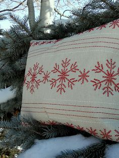 Gorgeous pillow made by just stuffing a Target placemat!