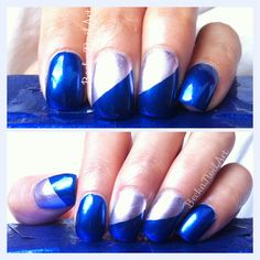 Aruba Blue and Nothing Else Metals by Essie - Twitter / Recent images by @BeckaNoel