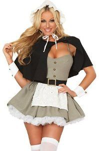 #Halloween : 3WISHES 'Pilgrim Fantasy Costume' Sexy Pilgrim Halloween Costumes for Women #HalloweenCostume #2013
