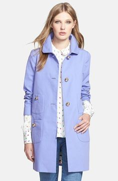 Cornflower and periwinkle are some of the most beautiful colours that Light Summer and Light Spring colouring can wear. Her hair colour is lovely lying against the coat.